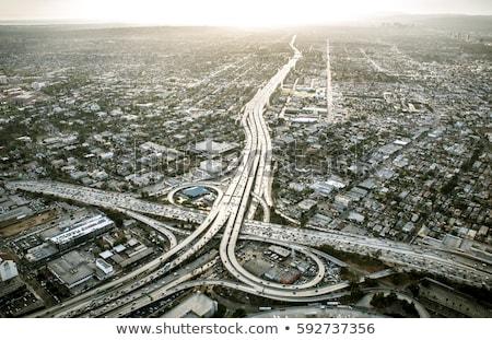 Rodovia carros tráfego preto e branco américa Foto stock © meinzahn