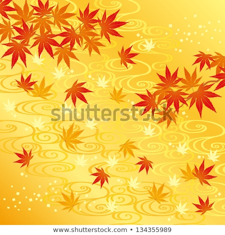 Autumn leaf in swirling river Stock photo © backyardproductions