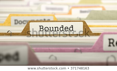 bounded   folder name in directory stock photo © tashatuvango