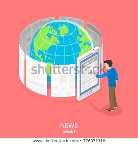 Laptop Screen with Digital News Concept. 3D Illustration. Stock photo © tashatuvango