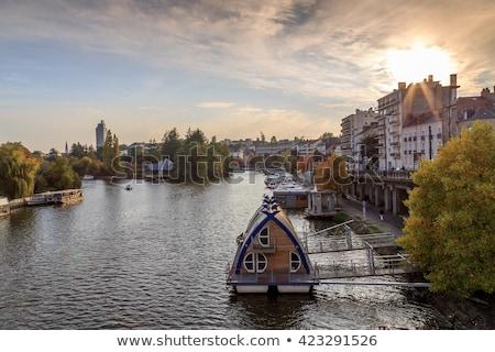 arquitectura · antigua · cielo · ciudad · azul · viaje - foto stock © benkrut