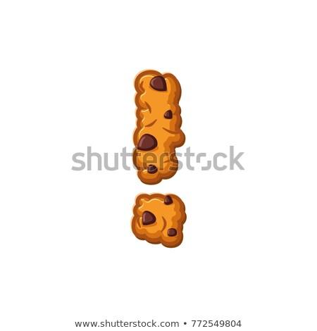 Ponto de exclamação carta bolinhos bolinhos fonte Foto stock © popaukropa