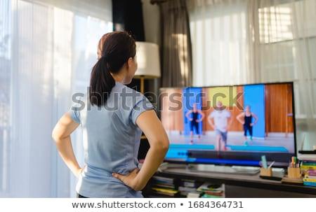 аэробика изображение женщину девушки спорт синий Сток-фото © RazvanPhotography