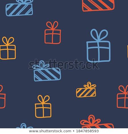 karácsony · főcím · szalag · ajándék · boldog · box - stock fotó © olena