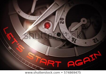 ビジネス · 革新 · 時計 · 顔 · 3次元の図 · ヴィンテージ - ストックフォト © tashatuvango