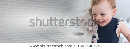zachte · pluche · schoothondje · naar · cute · rechtdoor - stockfoto © fotoyou