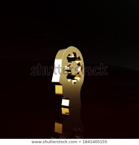Inżynierii rozwiązania złoty narzędzi 3D przemysłowych Zdjęcia stock © tashatuvango