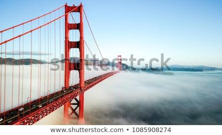 Golden Gate Bridge water zonsondergang brug reizen Stockfoto © BVDC