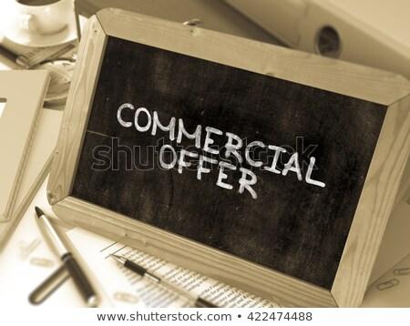 Handlowych oferta Tablica biuro zielone tekst Zdjęcia stock © tashatuvango