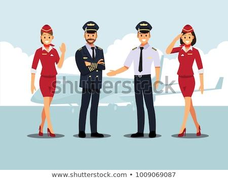 Flight captain smiling Stock photo © IS2