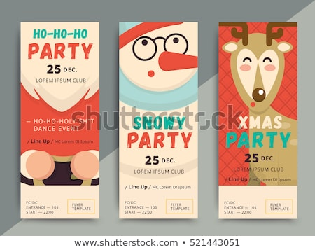 awesome christmas party flyer poster design template Stock photo © SArts