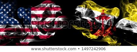 футбола пламя флаг Бруней черный 3d иллюстрации Сток-фото © MikhailMishchenko