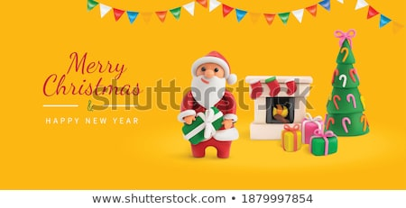 Vector plasticine illustration of Christmas candy Stock photo © Sonya_illustrations