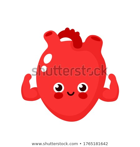 Mascot Heart Strong Biceps Stock photo © lenm