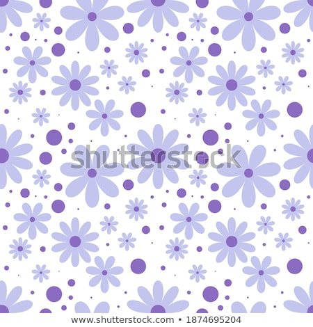 A pattern of white, orange and pink gerberas on a blue paper background Stock photo © artjazz