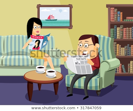 Newspaper vector cartoon illustration. Stock photo © RAStudio