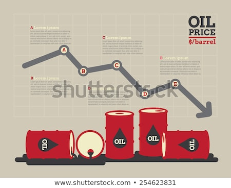 vector crude oil price financial chart Stock photo © freesoulproduction