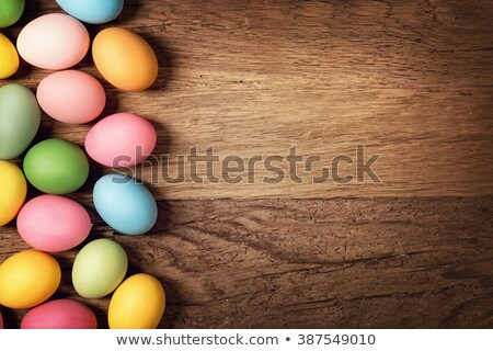 Dark blue easter egg isolated on dark background Stock photo © artjazz