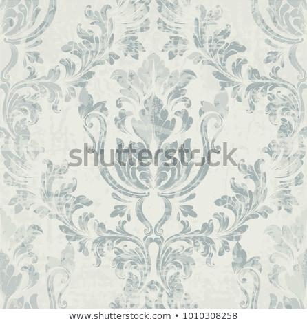 damast · patroon · zwart · wit · behang · abstract - stockfoto © frimufilms
