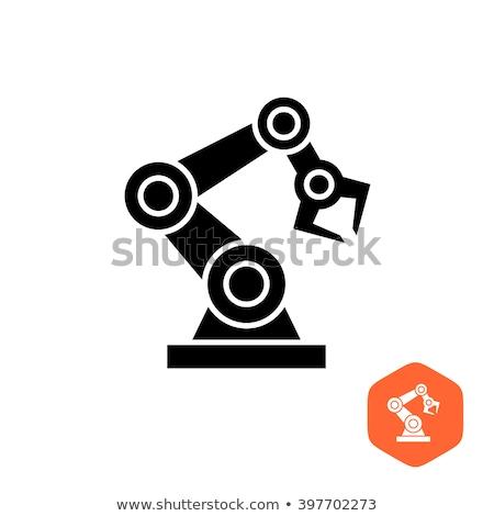 Robotico nero silhouette simbolo icona robot Foto d'archivio © kyryloff
