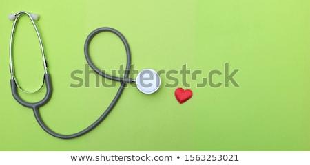 Orvos szív női piros kezek nő Stock fotó © CsDeli