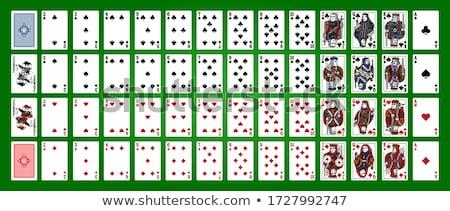 Kasyno gry karty symbolika biały wektora Zdjęcia stock © articular