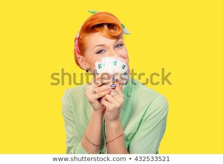 Verde camisa edad establecer dinero Foto stock © toyotoyo