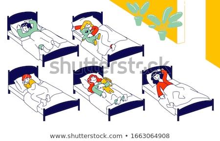 jong · meisje · slapen · boot · witte · achtergrond · oceaan - stockfoto © bluering