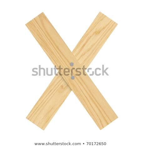 List drewna pokładzie chrzcielnica deska paznokcie Zdjęcia stock © popaukropa