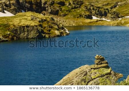 Cênico rota Noruega montanha estrada dois Foto stock © Kotenko