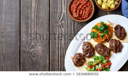 turkish potato salad with pepper stock photo © zoryanchik