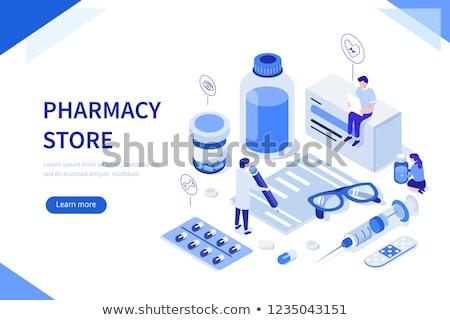 Medication and Pharmacy Web Banners Remedy Set Stock photo © robuart