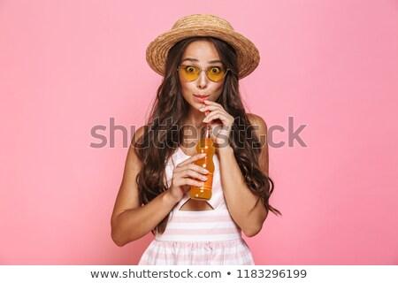 Fotó báj nő 20-as évek visel napszemüveg Stock fotó © deandrobot