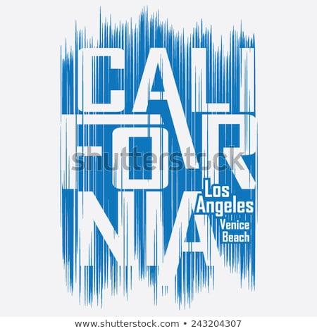 California sport wear T-shirt Typography design. Vector Stock photo © Andrei_