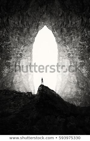 Sötét barlang illusztráció természet terv háttér Stock fotó © bluering