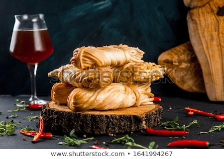 Braided tasty gold cheese  Stock photo © grafvision