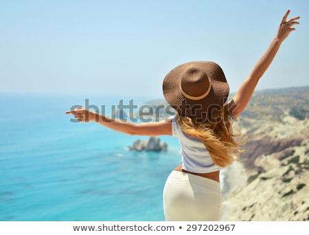 美しい 女の子 海岸線 2 ストックフォト © iko