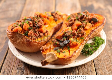 stuffed butternut slice with beef Stock photo © M-studio