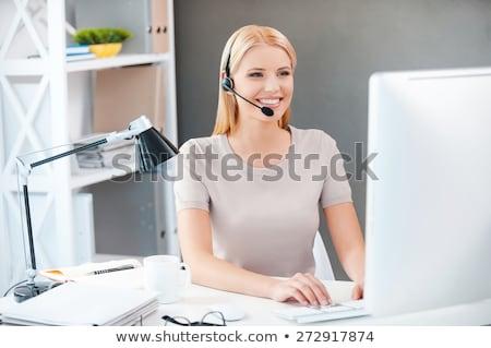 молодые секретарь телефон служба Сток-фото © Minervastock
