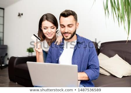 Stock photo: Couple doing shopping