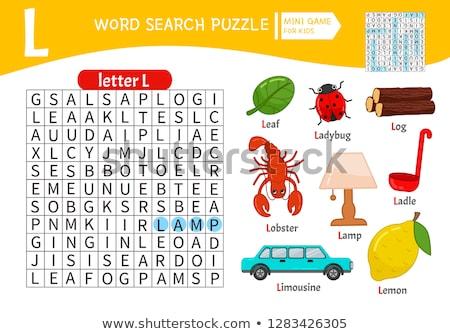 letter · l · illustratie · monster · woord · trap · tool - stockfoto © colematt