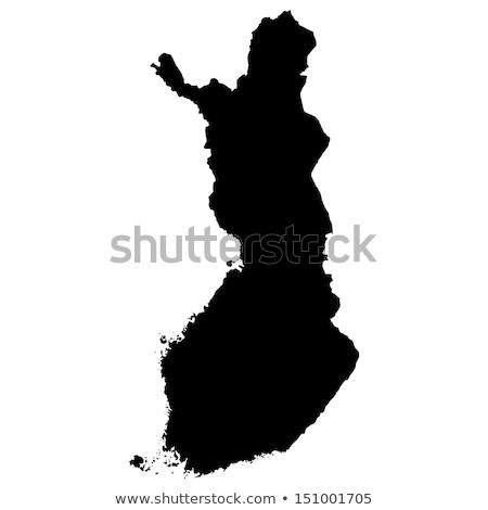 Финляндия карта икона вектора дизайна фон Сток-фото © blaskorizov