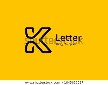 k logo icon symbol sign element logotype Stock photo © blaskorizov