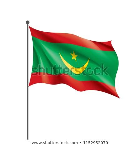 Mauritania flag isolated on white Stock photo © daboost