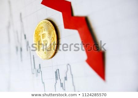 Bitcoin business Blauw web wereld valuta Stockfoto © alexaldo