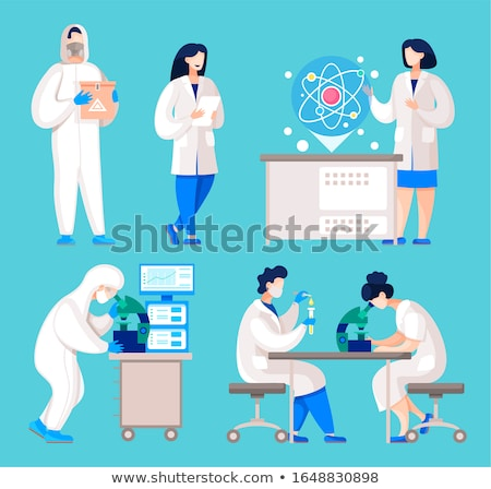 mad doctor working in the clinic stock photo © elnur