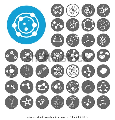 molecule icons set pattern stock photo © netkov1