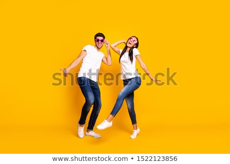 partying couple man and woman dancing on disco stock photo © robuart