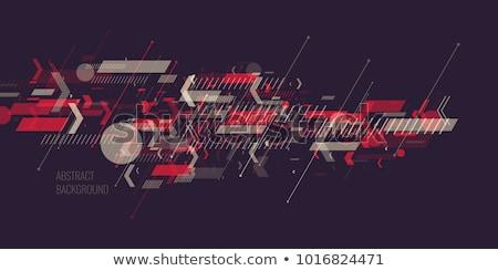 Elegante azul tecnologia partículas textura abstrato Foto stock © SArts
