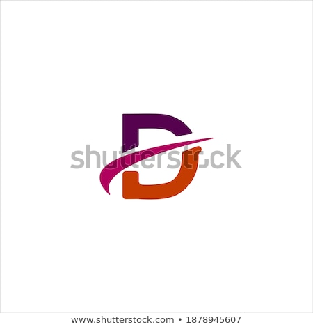 Carta diseno vector logo anuncio naranja Foto stock © twindesigner
